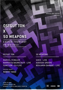 Ostgut Ton x 50 Weapons Flyer
